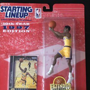 Starting Lineup Action Figure Eddie Jones Red Topps Card Basketball NBA