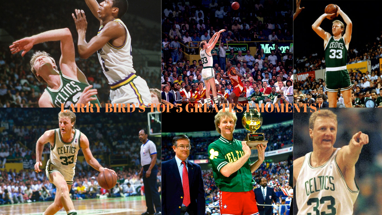 Larry Bird's Top 5 Greatest Games! Larry Bird Celtics 67 years old relive some of the greatest moments ever old timers old school basketball #epic