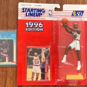 NBA Clyde Drexler Figure & Card