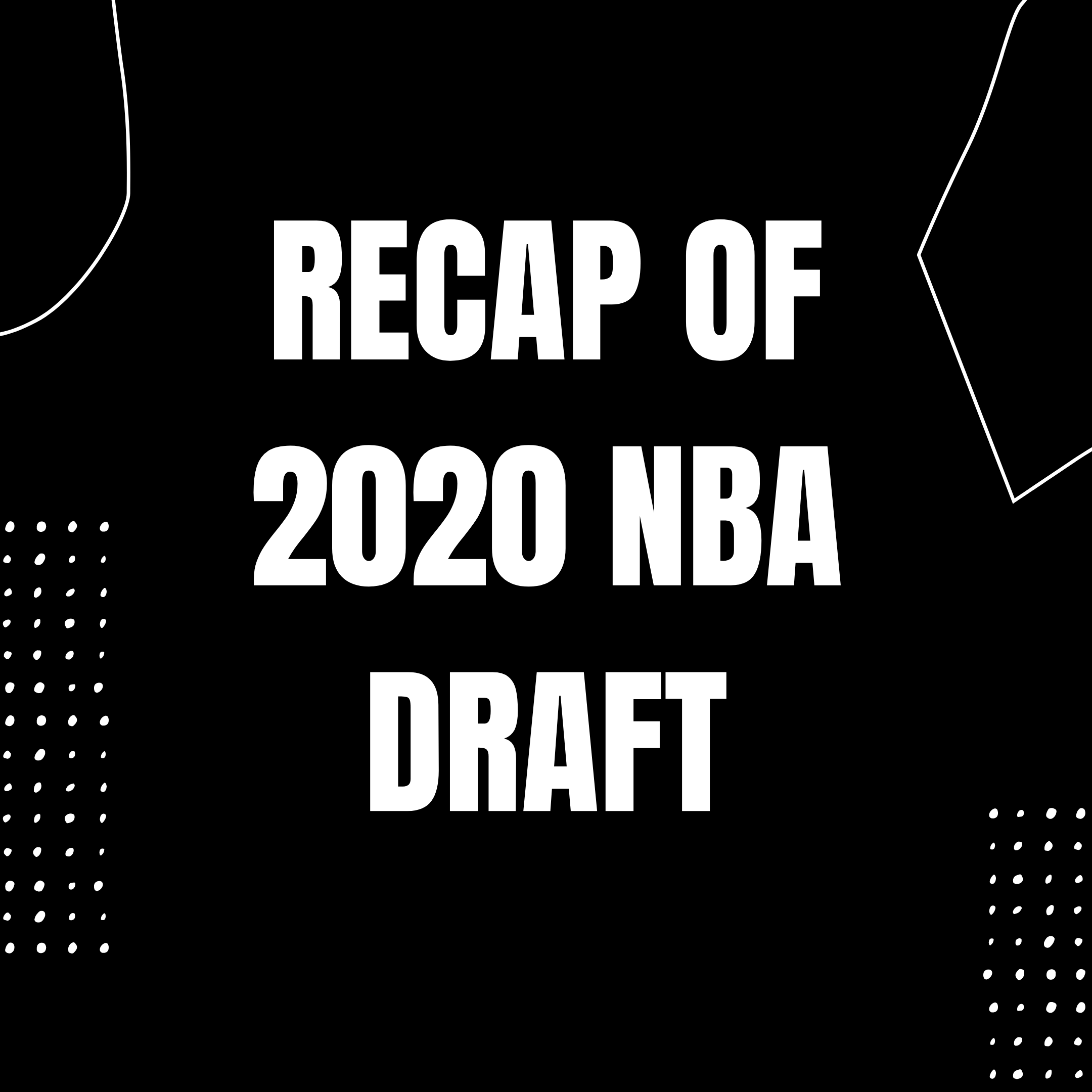 Recap Of The First 10 Picks Of The 2020 NBA Draft