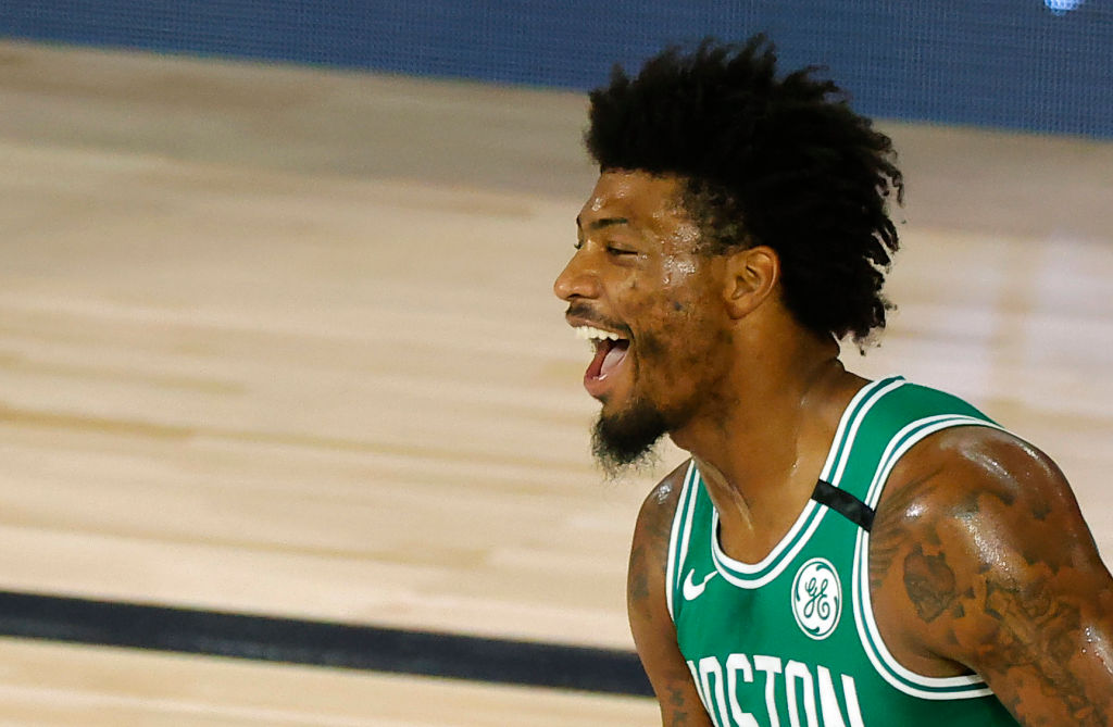 Marcus Smart out with a calf injury!