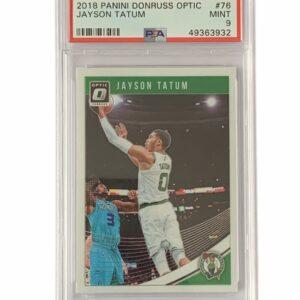 PSA 9 Optic Jayson Tatum Card