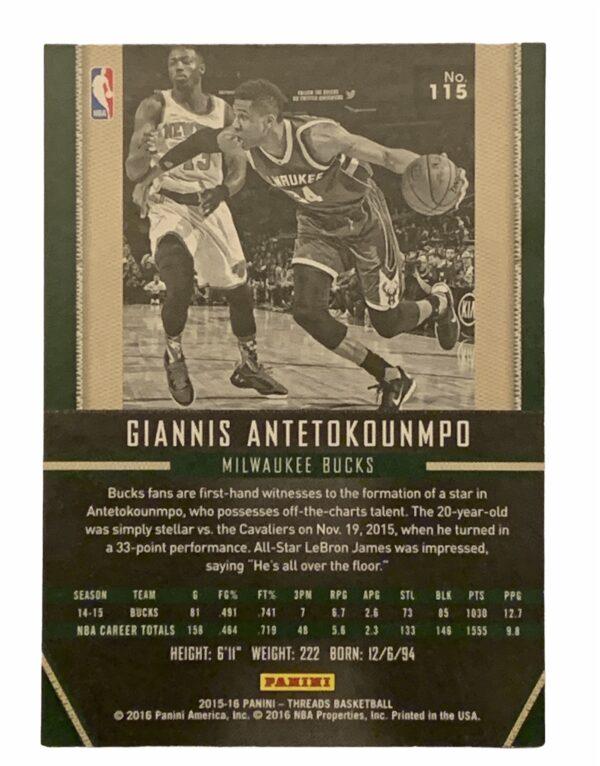 Giannis Antetokounmpo Panini Card