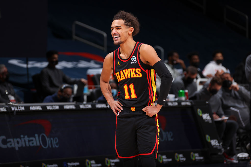 Trae Young getting MRI on SCARY injury!