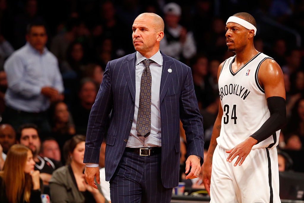 Jason Kidd interviewing for the HC position of the Magics!