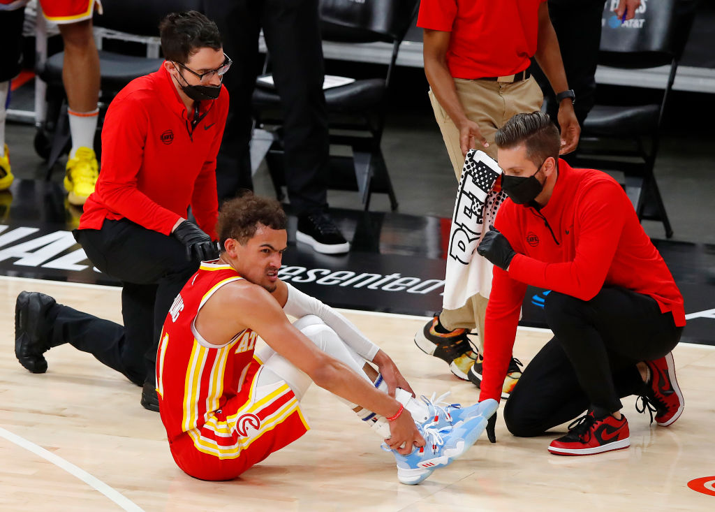 Trae Young is questionable for Game 4!